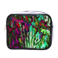 Bright Tropical Background Abstract Background That Has The Shape And Colors Of The Tropics Mini Toiletries Bags