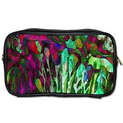 Bright Tropical Background Abstract Background That Has The Shape And Colors Of The Tropics Toiletries Bags