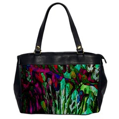 Bright Tropical Background Abstract Background That Has The Shape And Colors Of The Tropics Office Handbags