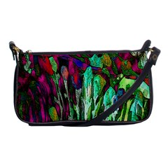 Bright Tropical Background Abstract Background That Has The Shape And Colors Of The Tropics Shoulder Clutch Bags