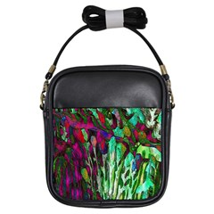 Bright Tropical Background Abstract Background That Has The Shape And Colors Of The Tropics Girls Sling Bags