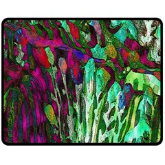 Bright Tropical Background Abstract Background That Has The Shape And Colors Of The Tropics Fleece Blanket (Medium)