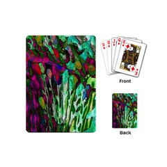 Bright Tropical Background Abstract Background That Has The Shape And Colors Of The Tropics Playing Cards (Mini)