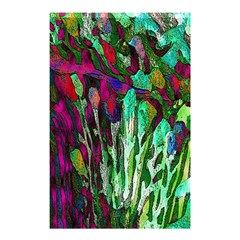 Bright Tropical Background Abstract Background That Has The Shape And Colors Of The Tropics Shower Curtain 48  x 72  (Small)