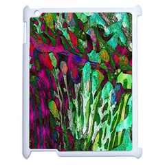 Bright Tropical Background Abstract Background That Has The Shape And Colors Of The Tropics Apple iPad 2 Case (White)