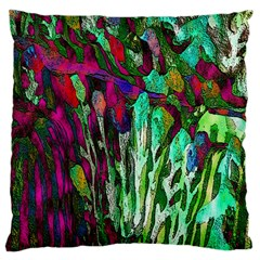 Bright Tropical Background Abstract Background That Has The Shape And Colors Of The Tropics Large Cushion Case (one Side)