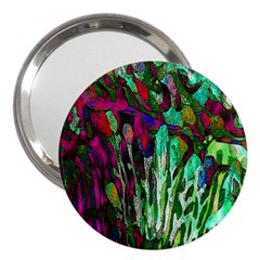 Bright Tropical Background Abstract Background That Has The Shape And Colors Of The Tropics 3  Handbag Mirrors