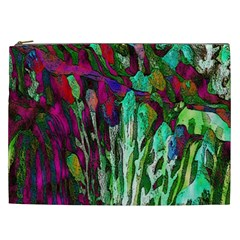 Bright Tropical Background Abstract Background That Has The Shape And Colors Of The Tropics Cosmetic Bag (XXL)