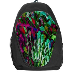 Bright Tropical Background Abstract Background That Has The Shape And Colors Of The Tropics Backpack Bag