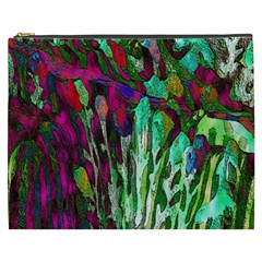 Bright Tropical Background Abstract Background That Has The Shape And Colors Of The Tropics Cosmetic Bag (XXXL)