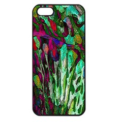 Bright Tropical Background Abstract Background That Has The Shape And Colors Of The Tropics Apple Iphone 5 Seamless Case (black)