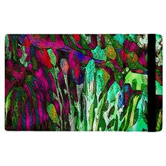 Bright Tropical Background Abstract Background That Has The Shape And Colors Of The Tropics Apple Ipad 2 Flip Case