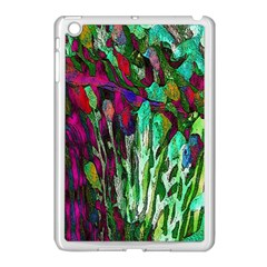 Bright Tropical Background Abstract Background That Has The Shape And Colors Of The Tropics Apple iPad Mini Case (White)