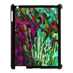 Bright Tropical Background Abstract Background That Has The Shape And Colors Of The Tropics Apple iPad 3/4 Case (Black)