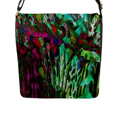 Bright Tropical Background Abstract Background That Has The Shape And Colors Of The Tropics Flap Messenger Bag (L)