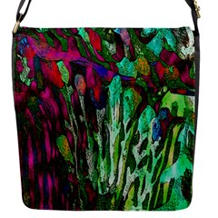 Bright Tropical Background Abstract Background That Has The Shape And Colors Of The Tropics Flap Messenger Bag (S)
