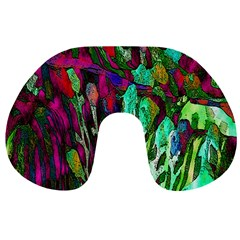 Bright Tropical Background Abstract Background That Has The Shape And Colors Of The Tropics Travel Neck Pillows