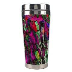 Bright Tropical Background Abstract Background That Has The Shape And Colors Of The Tropics Stainless Steel Travel Tumblers