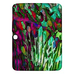 Bright Tropical Background Abstract Background That Has The Shape And Colors Of The Tropics Samsung Galaxy Tab 3 (10.1 ) P5200 Hardshell Case
