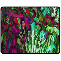 Bright Tropical Background Abstract Background That Has The Shape And Colors Of The Tropics Double Sided Fleece Blanket (medium)