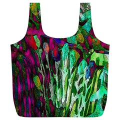 Bright Tropical Background Abstract Background That Has The Shape And Colors Of The Tropics Full Print Recycle Bags (L)
