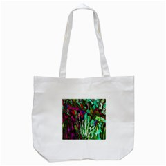 Bright Tropical Background Abstract Background That Has The Shape And Colors Of The Tropics Tote Bag (White)