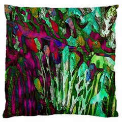 Bright Tropical Background Abstract Background That Has The Shape And Colors Of The Tropics Standard Flano Cushion Case (two Sides)