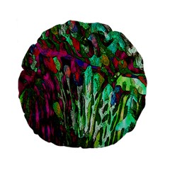 Bright Tropical Background Abstract Background That Has The Shape And Colors Of The Tropics Standard 15  Premium Flano Round Cushions
