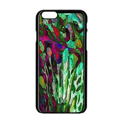 Bright Tropical Background Abstract Background That Has The Shape And Colors Of The Tropics Apple Iphone 6/6s Black Enamel Case