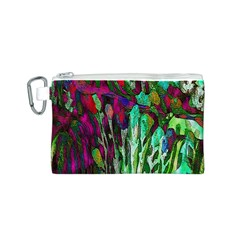 Bright Tropical Background Abstract Background That Has The Shape And Colors Of The Tropics Canvas Cosmetic Bag (s)