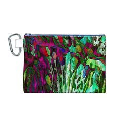 Bright Tropical Background Abstract Background That Has The Shape And Colors Of The Tropics Canvas Cosmetic Bag (M)