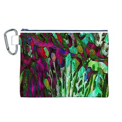 Bright Tropical Background Abstract Background That Has The Shape And Colors Of The Tropics Canvas Cosmetic Bag (l)
