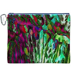 Bright Tropical Background Abstract Background That Has The Shape And Colors Of The Tropics Canvas Cosmetic Bag (XXXL)
