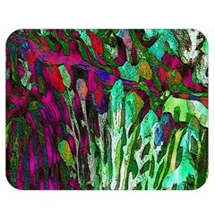 Bright Tropical Background Abstract Background That Has The Shape And Colors Of The Tropics Double Sided Flano Blanket (Medium)