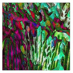 Bright Tropical Background Abstract Background That Has The Shape And Colors Of The Tropics Large Satin Scarf (Square)