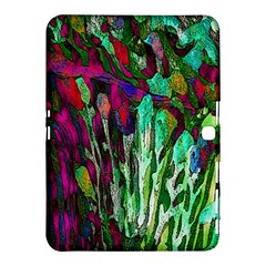 Bright Tropical Background Abstract Background That Has The Shape And Colors Of The Tropics Samsung Galaxy Tab 4 (10.1 ) Hardshell Case