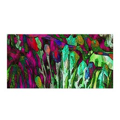 Bright Tropical Background Abstract Background That Has The Shape And Colors Of The Tropics Satin Wrap