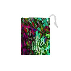 Bright Tropical Background Abstract Background That Has The Shape And Colors Of The Tropics Drawstring Pouches (XS)