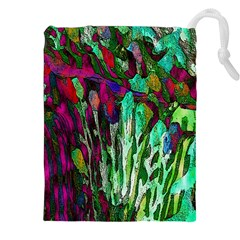 Bright Tropical Background Abstract Background That Has The Shape And Colors Of The Tropics Drawstring Pouches (XXL)