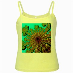 Beautiful Mandala Created With Fractal Forge Yellow Spaghetti Tank