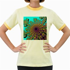 Beautiful Mandala Created With Fractal Forge Women s Fitted Ringer T-Shirts