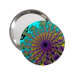 Beautiful Mandala Created With Fractal Forge 2 25  Handbag Mirrors