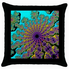 Beautiful Mandala Created With Fractal Forge Throw Pillow Case (black)