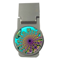 Beautiful Mandala Created With Fractal Forge Money Clips (round)