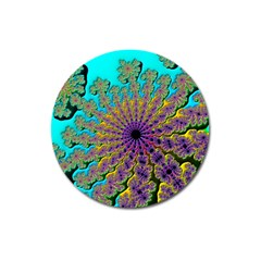 Beautiful Mandala Created With Fractal Forge Magnet 3  (Round)