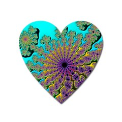 Beautiful Mandala Created With Fractal Forge Heart Magnet