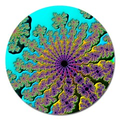 Beautiful Mandala Created With Fractal Forge Magnet 5  (Round)