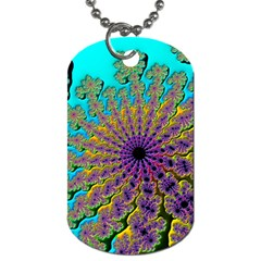 Beautiful Mandala Created With Fractal Forge Dog Tag (one Side)