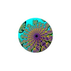 Beautiful Mandala Created With Fractal Forge Golf Ball Marker (10 Pack)