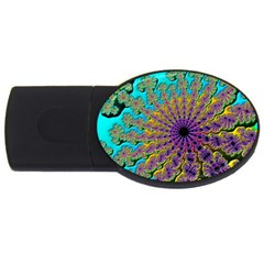Beautiful Mandala Created With Fractal Forge USB Flash Drive Oval (2 GB)